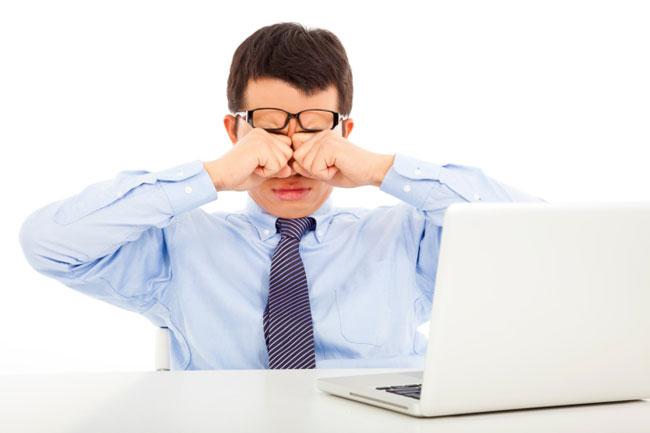 Защита глаз при работе за компьютером