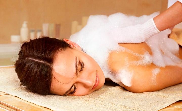 Мыльный массаж – доступное